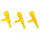2 Way Controlled Airline Valve Yellow (3 pcs)