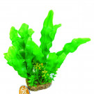"Betta 10"" Green Plastic Plant W/ Sand Base"